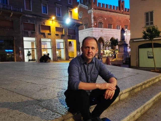 Professor Doctor Dario Cebic in Piacenza, Italy during Val Tidone Internetional Music Competition