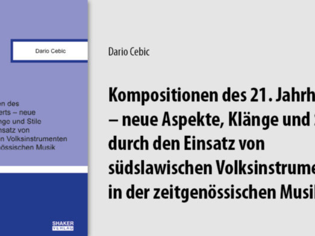 Cover of Professor Doctor Dario Cebic's book